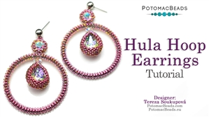 How to Bead / Free Video Tutorials / Earring Projects / Hula Hoop Earrings Tutorial