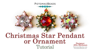 How to Bead Jewelry / Beading Tutorials & Jewel Making Videos / Holiday Themed Projects / Christmas Star Ornament Tutorial