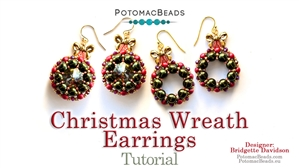 How to Bead / Free Video Tutorials / Holiday Themed Projects / Christmas Wreath Earrings Tutorial