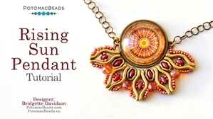 How to Bead Jewelry / Beading Tutorials & Jewel Making Videos / Pendant Projects / Rising Sun Pendant Tutorial