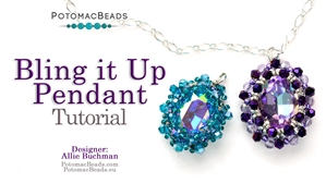 How to Bead / Free Video Tutorials / Pendant Projects / Bling it Up Pendant Tutorial