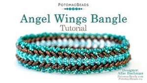 How to Bead Jewelry / Beading Tutorials & Jewel Making Videos / Bracelet Projects / Angel Wings Bangle Tutorial