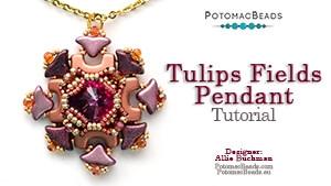 How to Bead Jewelry / Beading Tutorials & Jewel Making Videos / Pendant Projects / Tulip Fields Pendant Tutorial