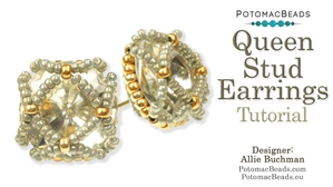 How to Bead Jewelry / Beading Tutorials & Jewel Making Videos / Earring Projects / Queen Stud Earrings Tutorial