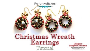 How to Bead / Free Video Tutorials / Earring Projects / Christmas Wreath Earrings Tutorial