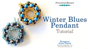 How to Bead Jewelry / Beading Tutorials & Jewel Making Videos / Pendant Projects / Winter Blues Pendant Tutorial