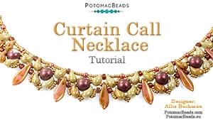 How to Bead Jewelry / Beading Tutorials & Jewel Making Videos / Bead Weaving Tutorials & Necklace Tutorial / Curtain Call Necklace Tutorial