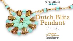 How to Bead Jewelry / Beading Tutorials & Jewel Making Videos / Pendant Projects / Dutch Blitz Pendant Tutorial