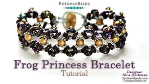 How to Bead Jewelry / Beading Tutorials & Jewel Making Videos / Bracelet Projects / Frog Princess Bracelet Tutorial
