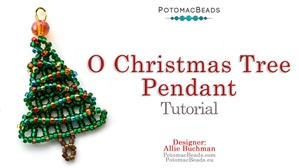 How to Bead / Free Video Tutorials / Holiday Themed Projects / O Christmas Tree Pendant Tutorial
