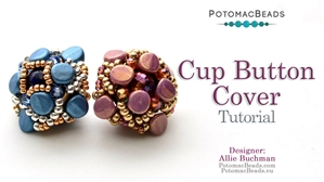 How to Bead / Free Video Tutorials / Beadweaving & Component Projects / Cup Button Cover Tutorial