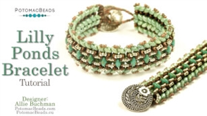 How to Bead Jewelry / Beading Tutorials & Jewel Making Videos / Bracelet Projects / Lilly Ponds Bracelet Tutorial