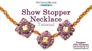 How to Bead / Free Video Tutorials / Necklace Projects / Show Stopper Necklace Tutorial