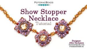 How to Bead Jewelry / Beading Tutorials & Jewel Making Videos / Bead Weaving Tutorials & Necklace Tutorial / Show Stopper Necklace Tutorial