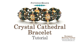 How to Bead Jewelry / Beading Tutorials & Jewel Making Videos / Bracelet Projects / Crystal Cathedral Bracelet
