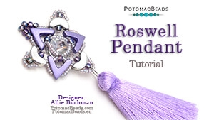 How to Bead / Free Video Tutorials / Pendant Projects / Roswell Pendant Tutorial