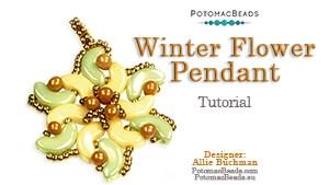 How to Bead Jewelry / Beading Tutorials & Jewel Making Videos / Pendant Projects / Winter Flower Pendant Tutorial