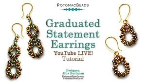 How to Bead Jewelry / Beading Tutorials & Jewel Making Videos / Earring Projects / Graduated Statement Earrings