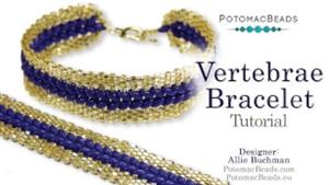 How to Bead Jewelry / Beading Tutorials & Jewel Making Videos / Bracelet Projects / Vertebrae Bracelet Tutorial