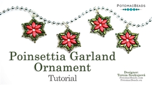 How to Bead / Free Video Tutorials / Holiday Themed Projects / Poinsettia Garland Ornament Tutorial