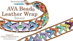 How to Bead Jewelry / Beading Tutorials & Jewel Making Videos / Bracelet Projects / AVA Bead Leather Wrap