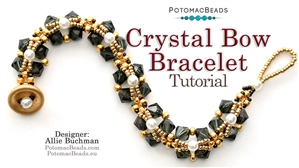 How to Bead / Free Video Tutorials / Bracelet Projects / Crystal Bow Bracelet Tutorial