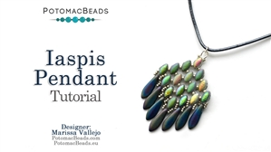 How to Bead / Free Video Tutorials / Pendant Projects / Iaspis Pendant Tutorial