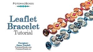 How to Bead Jewelry / Beading Tutorials & Jewel Making Videos / Bracelet Projects / Leaflet Bracelet Tutorial