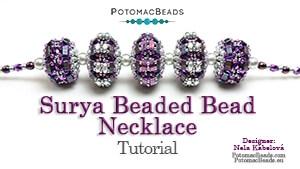 How to Bead Jewelry / Beading Tutorials & Jewel Making Videos / Beaded Beads / Surya Beaded Bead Necklace Tutorial