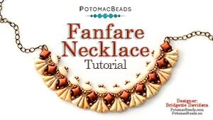 How to Bead Jewelry / Beading Tutorials & Jewel Making Videos / Bead Weaving Tutorials & Necklace Tutorial / Fanfare Necklace Tutorial