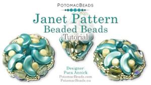 How to Bead / Free Video Tutorials / Beaded Beads / Janet Pattern Beaded Beads Tutorial