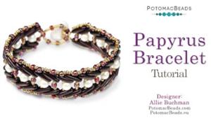 How to Bead Jewelry / Beading Tutorials & Jewel Making Videos / Bracelet Projects / Papyrus 2 Bracelet Tutorial