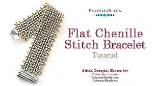 How to Bead Jewelry / Beading Tutorials & Jewel Making Videos / Bracelet Projects / Flat Chenille Stitch Bracelet