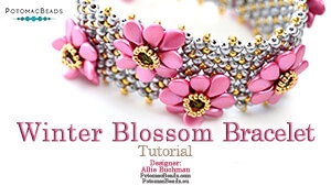 How to Bead / Free Video Tutorials / Bracelet Projects / Winter Blossom Bracelet