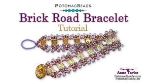 How to Bead Jewelry / Beading Tutorials & Jewel Making Videos / Bracelet Projects / Brick Road Bracelet Tutorial