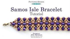 How to Bead Jewelry / Beading Tutorials & Jewel Making Videos / Bracelet Projects / Samos Isle Bracelet Tutorial