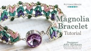 How to Bead / Free Video Tutorials / Bracelet Projects / Magnolia Bracelet Tutorial