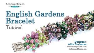 How to Bead Jewelry / Beading Tutorials & Jewel Making Videos / Bracelet Projects / English Gardens Bracelet Tutorial