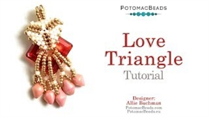 How to Bead Jewelry / Beading Tutorials & Jewel Making Videos / Pendant Projects / Love Triangle Pendant Tutorial