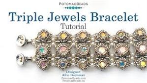 How to Bead / Free Video Tutorials / Bracelet Projects / Triple Jewels Bracelet Tutorial