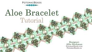 How to Bead Jewelry / Beading Tutorials & Jewel Making Videos / Bracelet Projects / Aloe Bracelet Tutorial