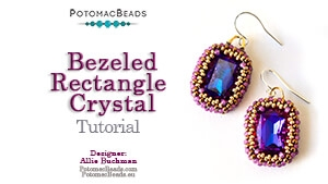 How to Bead Jewelry / Beading Tutorials & Jewel Making Videos / Earring Projects / Bezeled 13x18mm Rectangle Crystal Tutorial