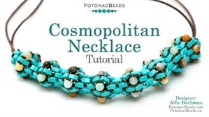 How to Bead / Free Video Tutorials / Necklace Projects / Cosmopolitan Necklace Tutorial
