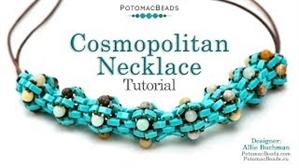 How to Bead Jewelry / Beading Tutorials & Jewel Making Videos / Bead Weaving Tutorials & Necklace Tutorial / Cosmopolitan Necklace Tutorial
