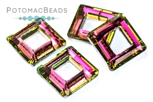 Jewelry Making Supplies & Beads / Beads and Crystals / Potomac Crystal Square Rings