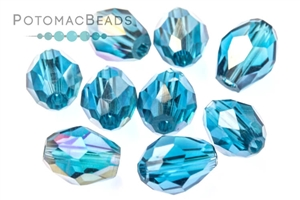 Jewelry Making Supplies & Beads / Beads and Crystals / Potomac Crystal Teardrops (3x5mm and 6x8mm)