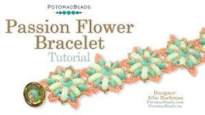 How to Bead Jewelry / Beading Tutorials & Jewel Making Videos / Bracelet Projects / Passion Flower Bracelet Tutorial