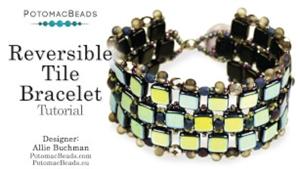 How to Bead Jewelry / Beading Tutorials & Jewel Making Videos / Bracelet Projects / Reversible Tile Bracelet Tutorial