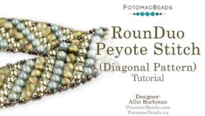 How to Bead / Free Video Tutorials / Bracelet Projects / RounDuo® Peyote Stitch Diagonal Bracelet Tutorial