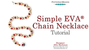 How to Bead Jewelry / Beading Tutorials & Jewel Making Videos / Bead Weaving Tutorials & Necklace Tutorial / Simple EVA Chain Necklace Tutorial